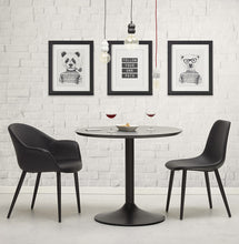 Load image into Gallery viewer, Melrose Armchair comes in black with a modern style and is available from roomshaped.co.uk