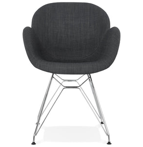 Alix Armchair comes in grey with a modern style and is available from roomshaped.co.uk