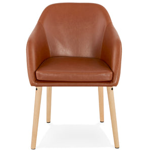 Madox Armchair comes in brown with a modern style and is available from roomshaped.co.uk