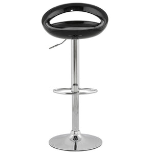 Venus Barstool comes in black and orange and red and silver and white with a modern style and is available from roomshaped.co.uk