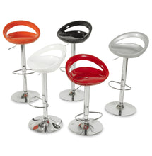 Load image into Gallery viewer, Venus Barstool comes in black and orange and red and silver and white with a modern style and is available from roomshaped.co.uk