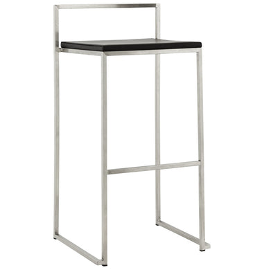 Meto Barstool comes in black and white with a modern style and is available from roomshaped.co.uk