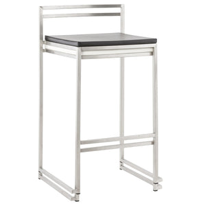 Meto Mini Barstool comes in black and white with a modern style and is available from roomshaped.co.uk