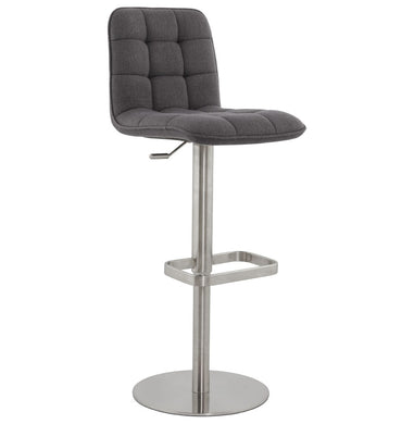 Jersey Barstool comes in grey with a modern style and is available from roomshaped.co.uk