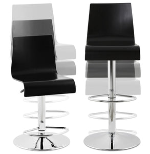 Santana Barstool comes in black and white with a modern style and is available from roomshaped.co.uk