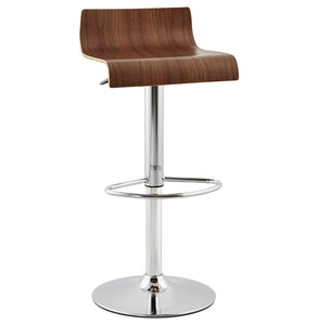 Valnot Barstool comes in brown with a modern style and is available from roomshaped.co.uk