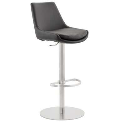 Karu Barstool comes in black with a modern style and is available from roomshaped.co.uk