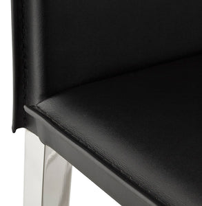 Dolby Barstool comes in black with a modern style and is available from roomshaped.co.uk