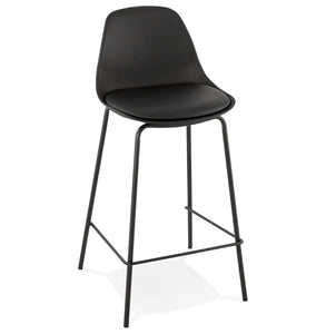 Escal Mini Barstool comes in black and white with a modern style and is available from roomshaped.co.uk
