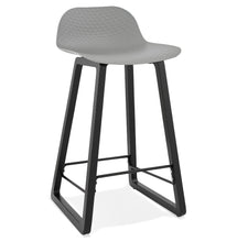 Load image into Gallery viewer, Miky Mini Barstool comes in black and grey and white with a modern style and is available from roomshaped.co.uk