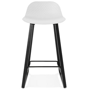Miky Mini Barstool comes in black and grey and white with a modern style and is available from roomshaped.co.uk