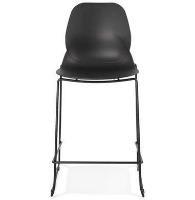 Ziggy Mini Barstool comes in black and white with a modern style and is available from roomshaped.co.uk