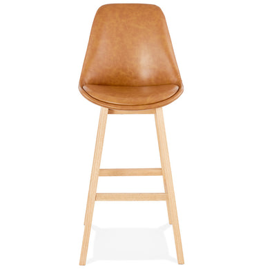 Janie Barstool comes in brown with a modern style and is available from roomshaped.co.uk