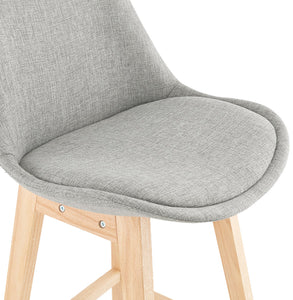 Qoop Barstool comes in grey with a modern style and is available from roomshaped.co.uk