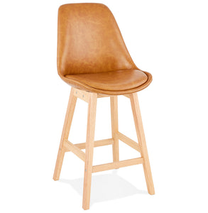 Janie Mini Barstool comes in brown with a modern style and is available from roomshaped.co.uk