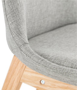 Qoop Mini Barstool comes in grey with a modern style and is available from roomshaped.co.uk