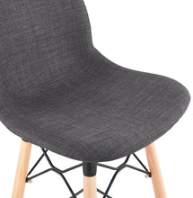 Load image into Gallery viewer, Cana Mini Barstool comes in black and grey with a modern style and is available from roomshaped.co.uk