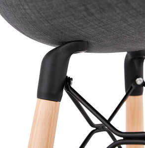 Cana Mini Barstool comes in black and grey with a modern style and is available from roomshaped.co.uk