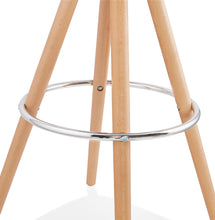 Load image into Gallery viewer, Anau Mini Barstool comes in black and grey and white with a modern style and is available from roomshaped.co.uk