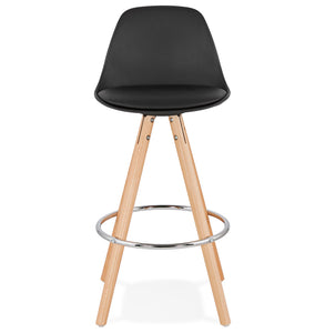 Anau Mini Barstool comes in black and grey and white with a modern style and is available from roomshaped.co.uk