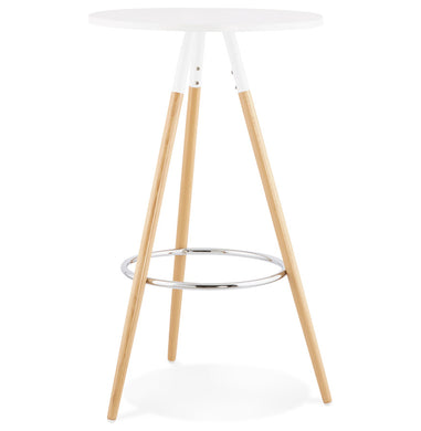 Larry Bar Table comes in white with a modern style and is available from roomshaped.co.uk