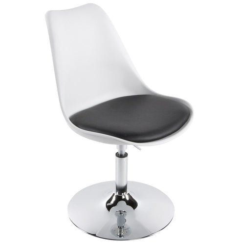 Victoria Chair comes in black and red and white with a modern style and is available from roomshaped.co.uk