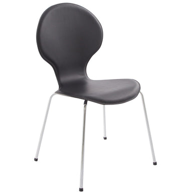 Vlind Chair comes in black and white with a modern style and is available from roomshaped.co.uk