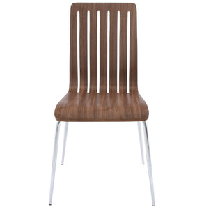 Stricto Chair comes in walnut and white with a modern style and is available from roomshaped.co.uk