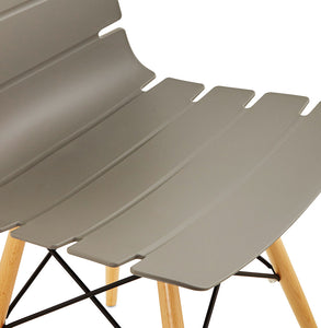 Strata Chair comes in black and grey and white with a modern style and is available from roomshaped.co.uk