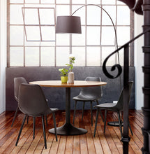 Load image into Gallery viewer, Wilson Chair comes in black with a modern style and is available from roomshaped.co.uk