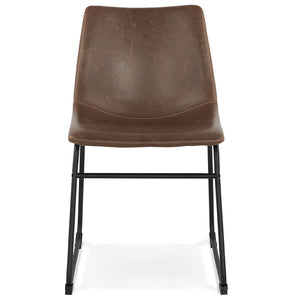 Biff Chair comes in brown with a modern style and is available from roomshaped.co.uk