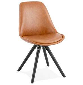 Steve Chair comes in black and a natural finish with a modern style and is available from roomshaped.co.uk