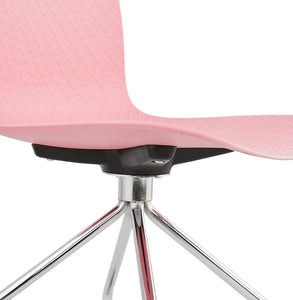 Rulle Chair comes in black and blue and grey and pink with a modern style and is available from roomshaped.co.uk