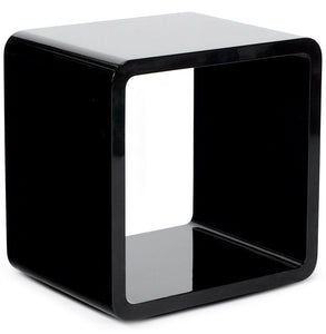 Verso Side Table comes in black and white with a modern style and is available from roomshaped.co.uk