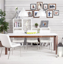 Load image into Gallery viewer, Recto Side Table comes in black and white with a modern style and is available from roomshaped.co.uk