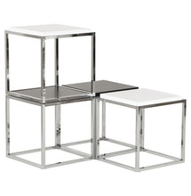 Load image into Gallery viewer, Kvadra Side Table comes in black and white with a modern style and is available from roomshaped.co.uk