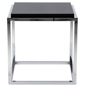 Kvadra Side Table comes in black and white with a modern style and is available from roomshaped.co.uk