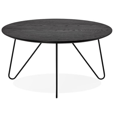 Runda Side Table comes in black and a natural finish with a modern style and is available from roomshaped.co.uk