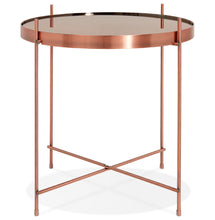 Load image into Gallery viewer, Espejo Mini Side Table comes in black and a copper finish with a modern style and is available from roomshaped.co.uk