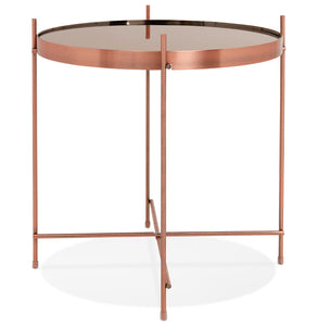 Espejo Mini Side Table comes in black and a copper finish with a modern style and is available from roomshaped.co.uk