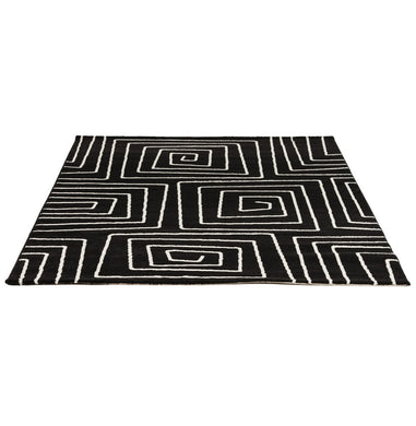 Linio Rug comes in black with a modern style and is available from roomshaped.co.uk
