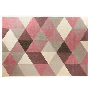 Muoto Rug comes in blue and green and pink and yellow with a modern style and is available from roomshaped.co.uk