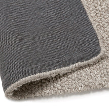 Load image into Gallery viewer, Nod Rug comes in brown and grey with a modern style and is available from roomshaped.co.uk