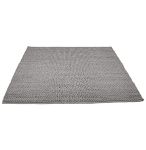 Tres Rug comes in green and grey with a modern style and is available from roomshaped.co.uk