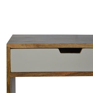 Matas Bookcase comes in grey with a painted style and is available from roomshaped.co.uk