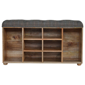 Nathan Storage Bench comes in an oak finish with a country style and is available from roomshaped.co.uk