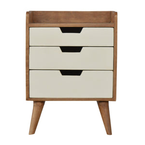 Finn Bedside Drawers comes in white and is available from roomshaped.co.uk