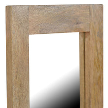 Load image into Gallery viewer, Honza Tall Mirror comes in an oak finish with a country style and is available from roomshaped.co.uk