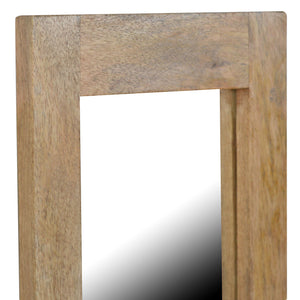 Honza Tall Mirror comes in an oak finish with a country style and is available from roomshaped.co.uk