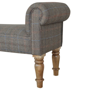 Leo Bench comes in brown and grey with a country style and is available from roomshaped.co.uk